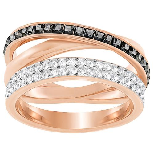 Pierścionek SWAROVSKI - Hero Ring, Gray, Rose gold 5366566