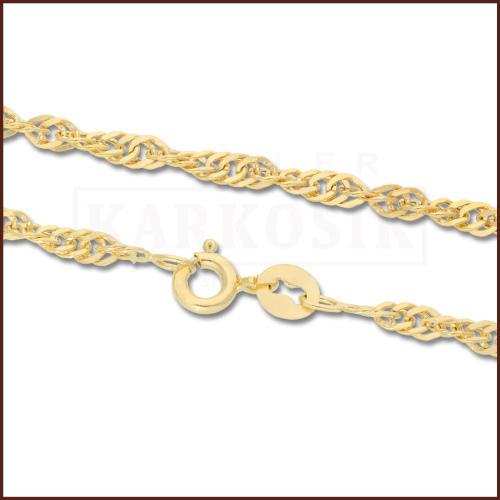 Złoty Łańcuszek Singapur 50cm pr. 585