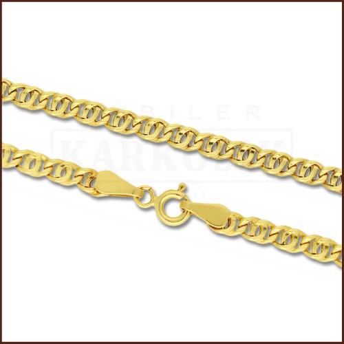 Złoty Łańcuszek Garibaldi 45cm pr. 585