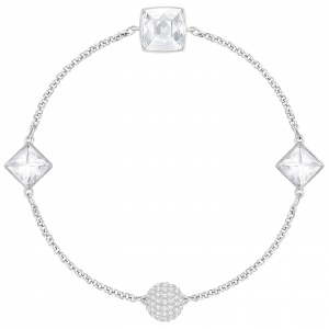 Bransoletka SWAROVSKI - Remix Collection Crystal Spike White, Rhodium 5365757
