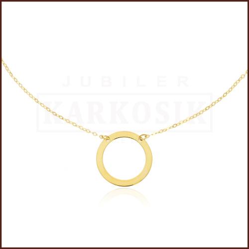 Złoty Naszyjnik Celebrytka Ring pr.333