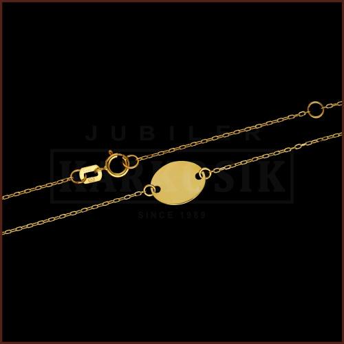 Złoty Naszyjnik Ażurowa Celebrytka pr.333