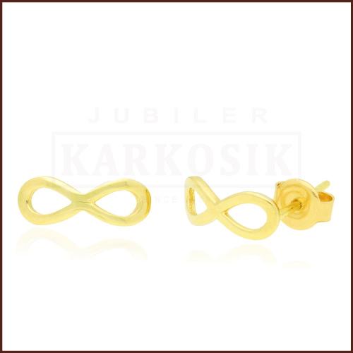 Złote kolczyki z cyrkoniami - Nieskończoność pr.333