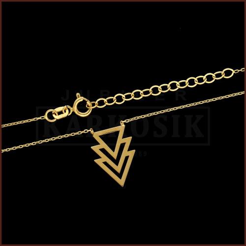 Złoty Naszyjnik Celebrytka - Trójkąty pr.585