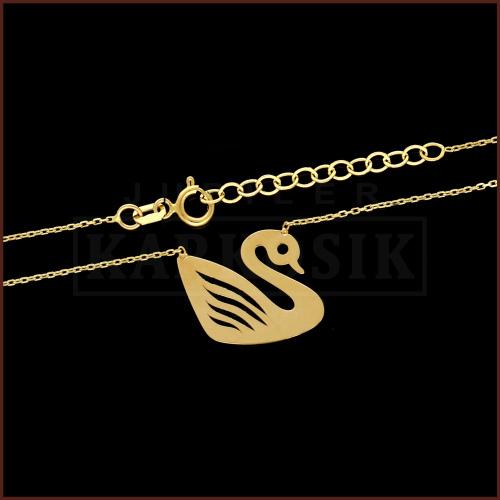 Złoty Naszyjnik Celebrytka - Łabędź pr.585