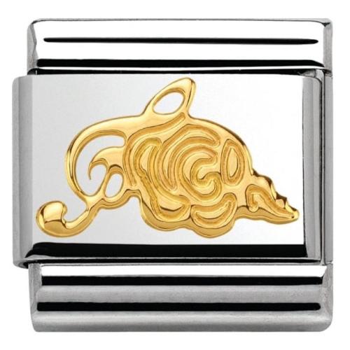 Nomination - Link 18K Gold 'Klucz Wiolinowy z Różą' 030162/20