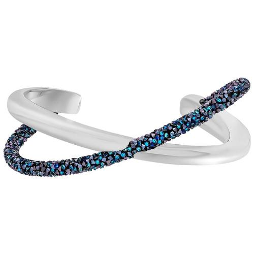 Bransoletka SWAROVSKI - Crystaldust Cross Cuff, Blue 5348052 L