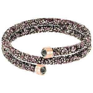 Bransoletka SWAROVSKI - Crystaldust Double Bangle, Multi-colored, Rose Gold 5348102 5379278 M