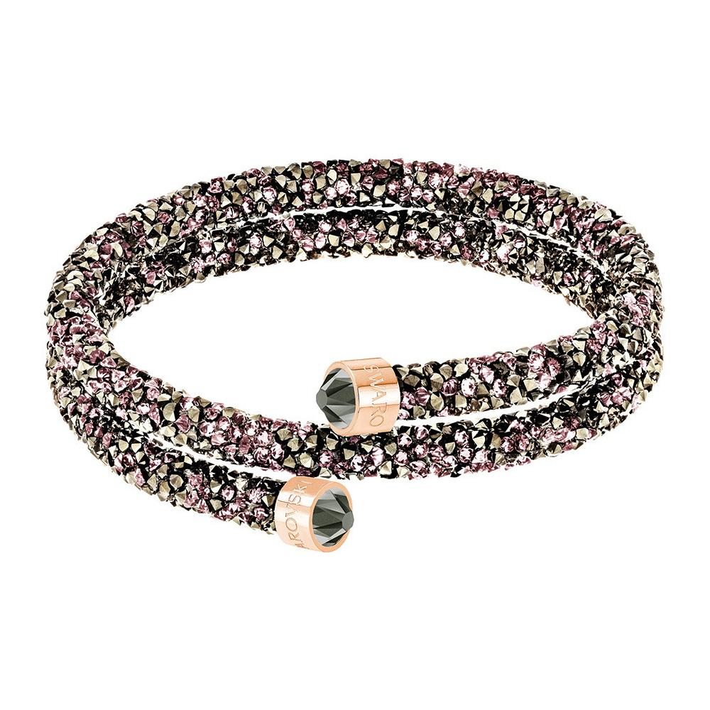 Bransoletka SWAROVSKI - Crystaldust Double Bangle, Multi-colored, Rose Gold 5348102 5379278 M