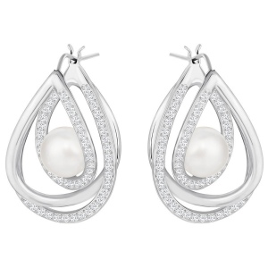 Kolczyki SWAROVSKI - Free Pierced Earrings, White 5217718