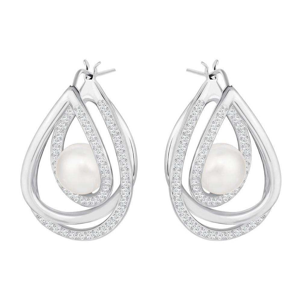 Kolczyki SWAROVSKI - Free Pierced Earrings, White 5217718