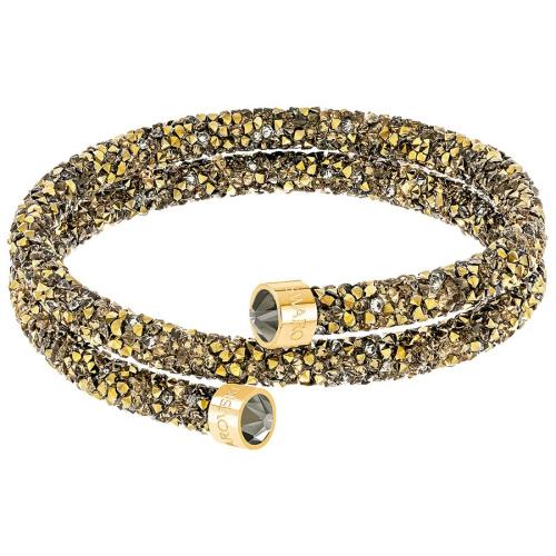 Bransoletka SWAROVSKI - Crystaldust Double Bangle, Multi-colored, Gold 5373047