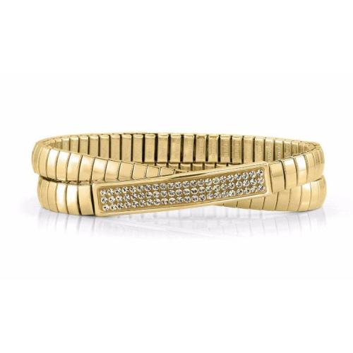 Podwójna Bransoletka Nomination Extension GOLD - Szampańskie Kryształy 043211/024