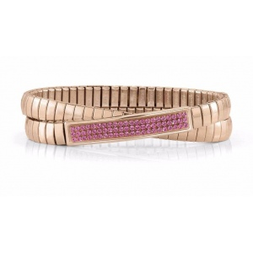 Podwójna Bransoletka Nomination Extension ROSE GOLD - Różowe Kryształy 043215/030