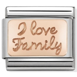 Nomination - Link 9K Rose Gold I Love Family 430101/41