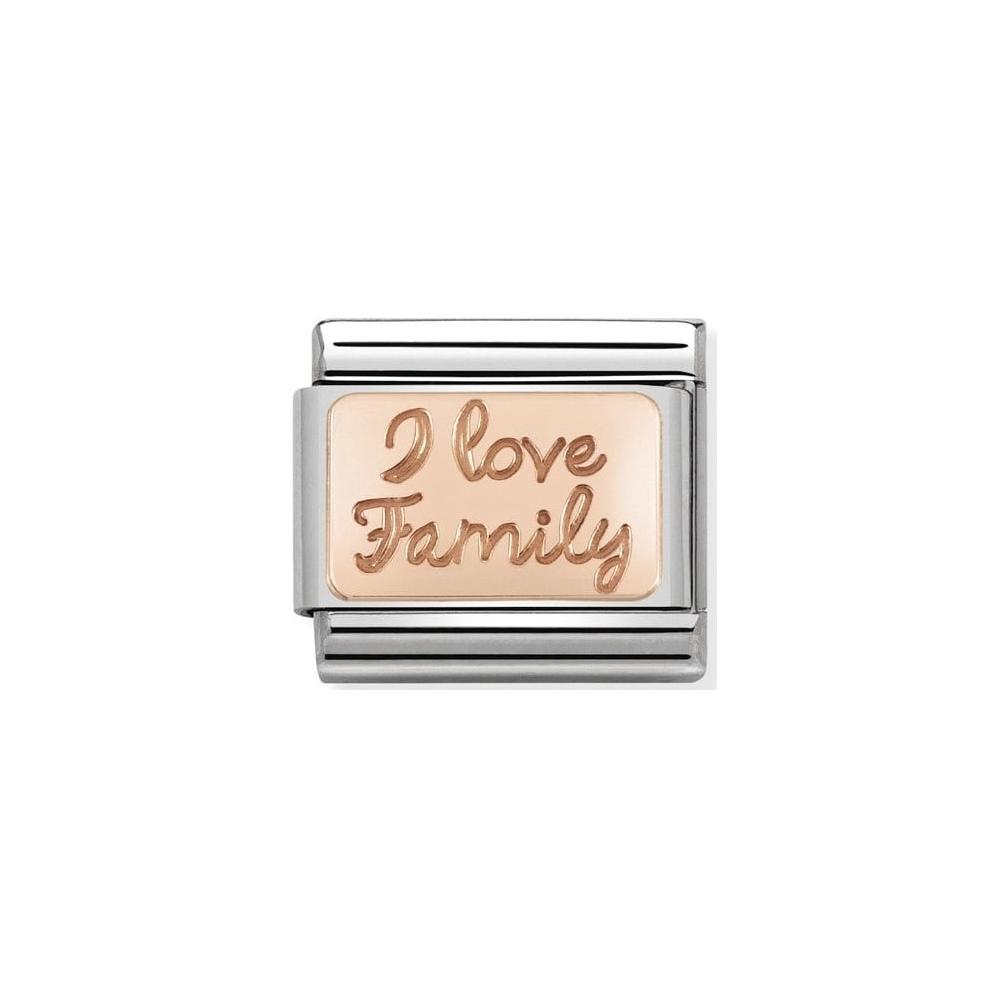 Nomination - Link 9K Rose Gold I Love Family 430101/41