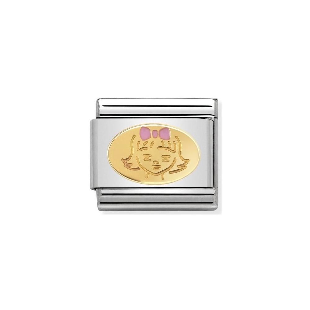 Nomination - Link 18K Gold Mała Dziewczynka 030242/35