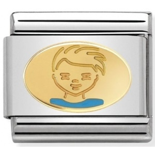 Nomination - Link 18K Gold Mały Chłopiec 030242/36