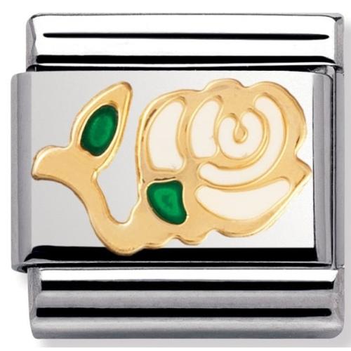Nomination - Link 18K Gold 'Róża' 030214/03