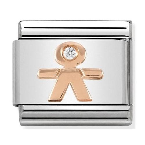 Nomination - Link 9K Rose Gold Chłopczyk z Cyrkonią 430305/08