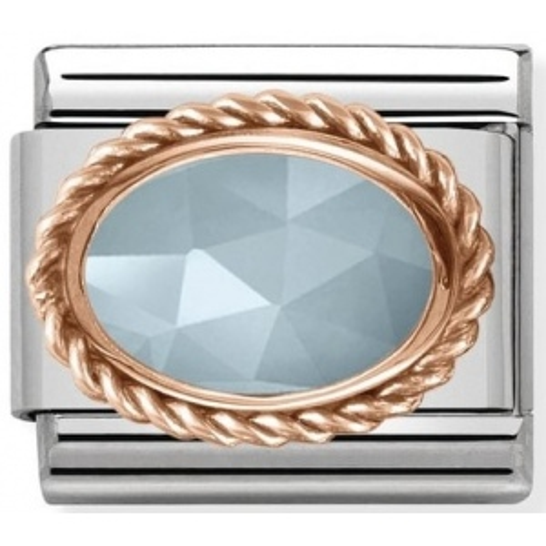 Nomination - Link 925 Silver Mleczny Akwamaryn 430507/31