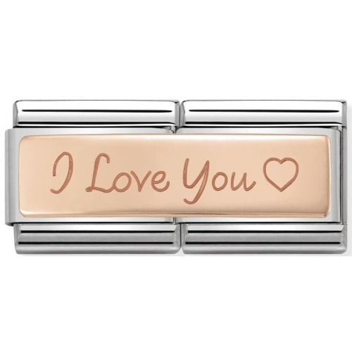 Nomination - Double Link 9K Rose Gold I Love You 430710/04