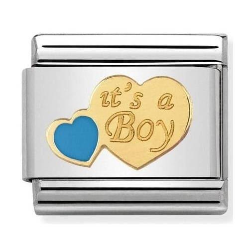 Nomination - Link 18K Gold It's a Boy 030242/40
