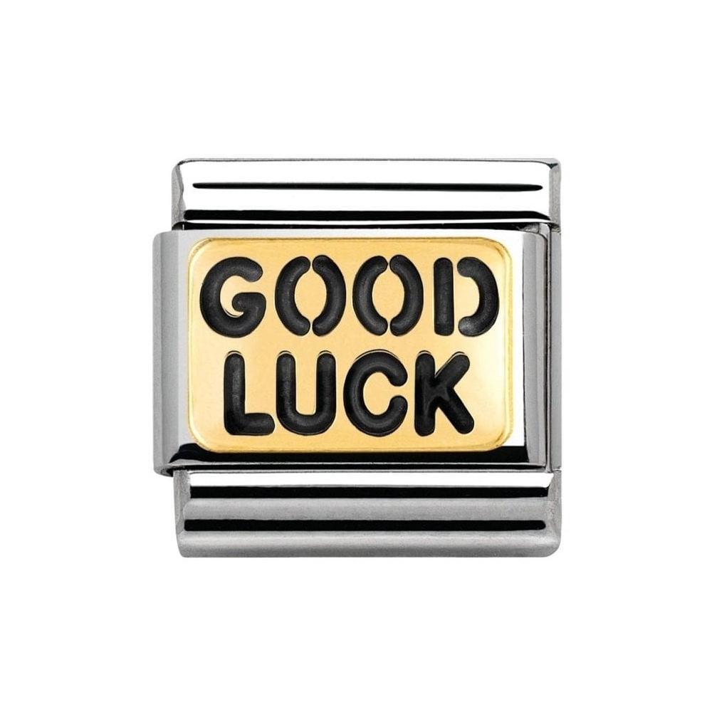 Nomination - Link 18K Gold 'Good Luck' 030261/36