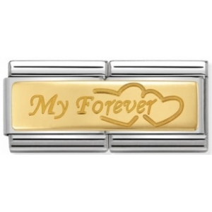 Nomination - Double Link 18K My Forever 030710/09