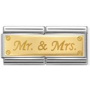 Nomination - Double Link 18K Mr.&Mrs. 030710/11