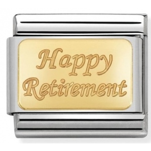 Nomination - Link 18K Gold Happy Retirement 030121/41