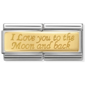 Nomination - Double Link 18K I Love You To The Moon and Back 030710/10