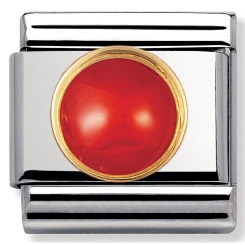 Nomination - Link 18K Czerwony Koral 030503/11