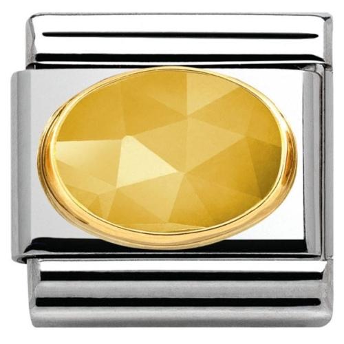 Nomination - Link 18K Gold Żółty Jadeit 030515/09