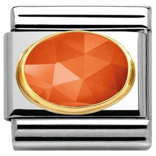 Nomination - Link 18K GoldPomarańczowy Jadeit 030515/10