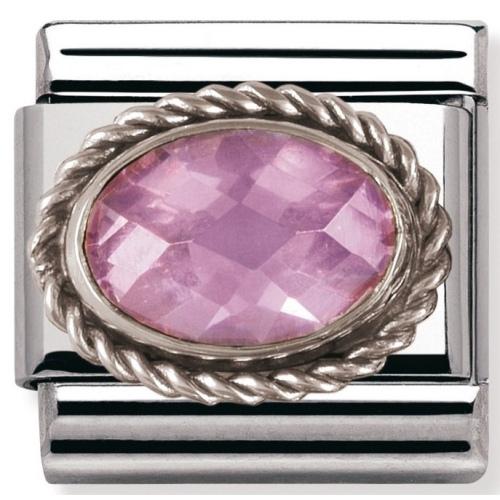 Nomination - Link 925 Silver 'Różowa Cyrkonia' 030606/003