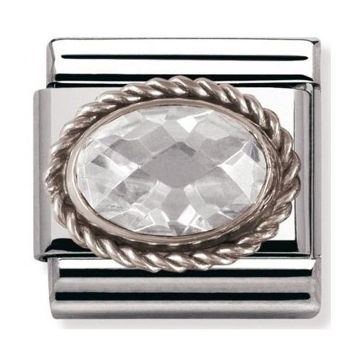 Nomination - Link 925 Silver 'Biała Cyrkonia' 030606/010