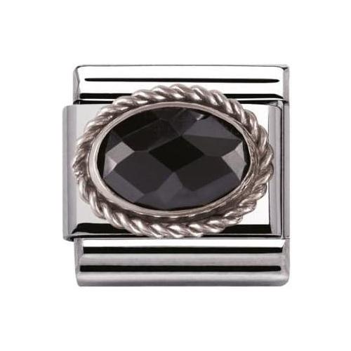 Nomination - Link 925 Silver 'Czarna Cyrkonia' 030606/011