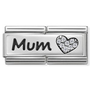 Nomination - Link 925 Silver Double Mama 330731/07