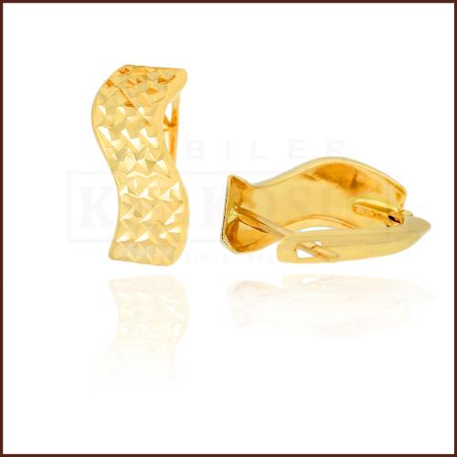 Złote kolczyki - Diamentowane Fale pr.585