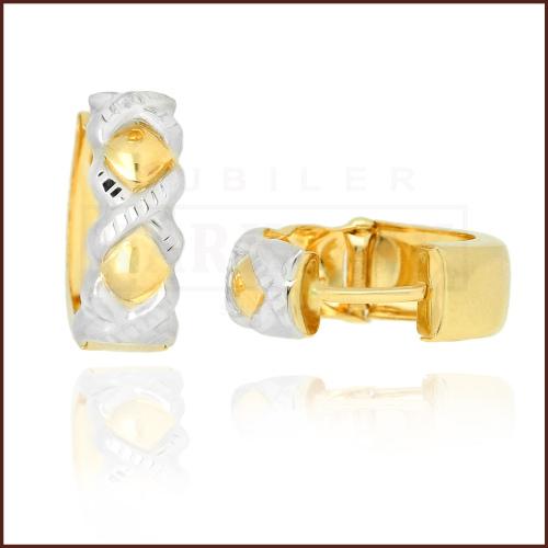 Złote kolczyki - Diamentowane Przecinki pr.585