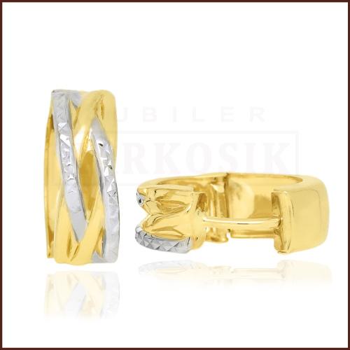 Złote kolczyki - Przecinki pr.585