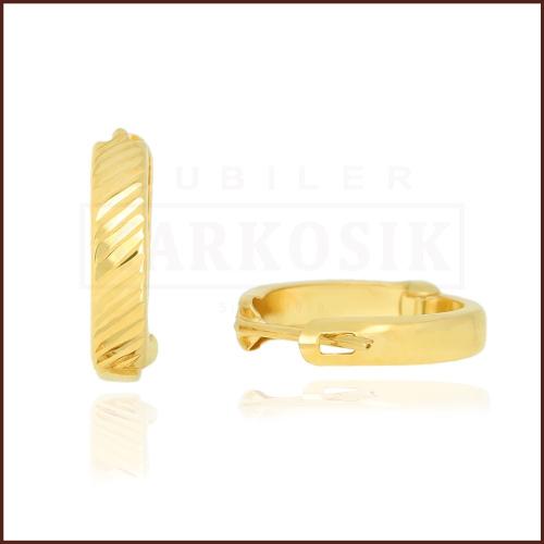Złote kolczyki - Diamentowane Koła pr.585
