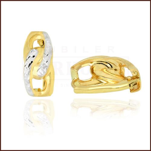 Złote kolczyki - Diamentowane Przecinki pr.333