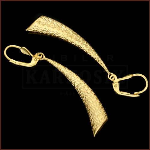 Złote kolczyki - Diamentowane Sople pr.333