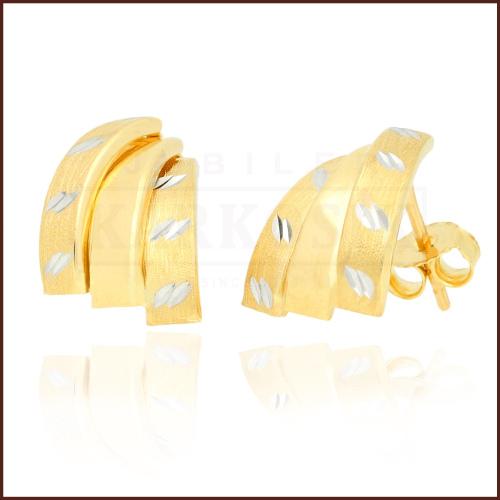 Złote kolczyki - Przecinki pr.333