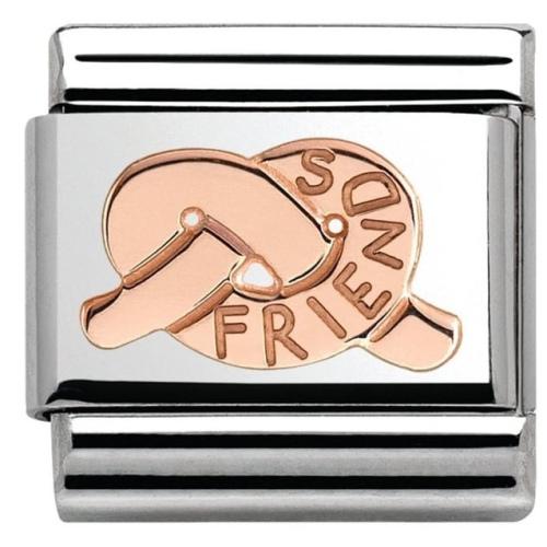 Nomination - Link 9K Rose Gold 'Węzeł - Friends' 430101/26