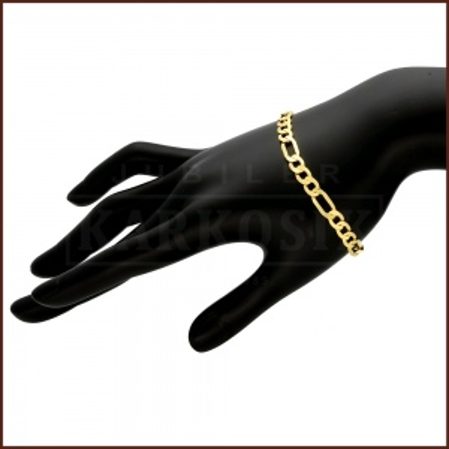 Złota Bransoletka Figaro 22cm pr.585