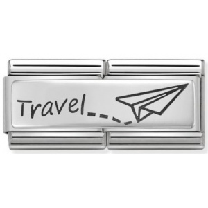 Nomination - Double Link 925 Silver 'Travel' 330710/09