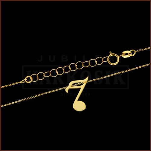 Złoty Naszyjnik Celebrytka - Nutka pr.585